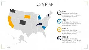 Usa Map For Powerpoint Usa Map Free Powerpoint Template