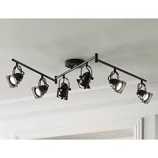 adjustable lighting fixtures. Finished In Bronze, This LED Track Fixture Features Six Adjustable Lights. Hamilton 6- Lighting Fixtures O