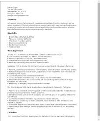 Resume Templates: Avionics Technician
