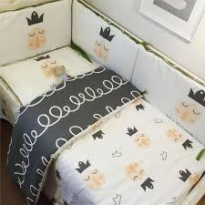3pcs sets 100 cotton cartoon whale little prince baby bedding set twill active pattern printing