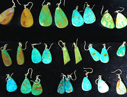 turquoise earrings e in every shade