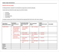 Communication Plan Template Word Communication Plan Example Under Fontanacountryinn Com