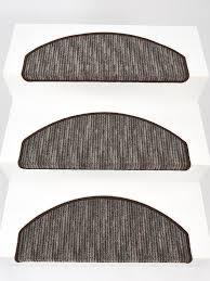15er Set Stufenmatten Treppenmatten Treppenschoner Stripes Braun Ca
