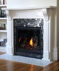 glass mosaic fireplace surround