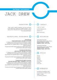 Simple Cv Templateremarkable Resume Mycvfactory