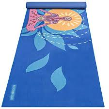 peace yoga 100 microfiber hot yoga mat towel for exercise pilates blue