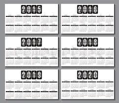 Calendar Grid For 2015 2016 2017 Stock Vector