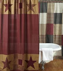 ninepatch star shower curtain by vhc brands tie back shower curtains with valance tie back shower