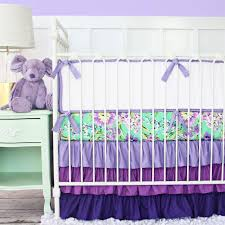 interior purple paige ruffle baby bedding babies and nursery expert crib skirt harmonious 8