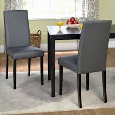 Chairs  Metro Parsons Dining Chairs Parsons Chairs With Arms - Faux leather dining room chairs
