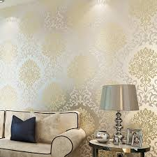 Wallpapers Vintage Classic Beige Franse Moderne Damast Feature