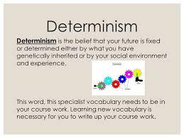 words essay on neo determinism determinism