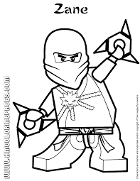 Small Picture Lego Ninjago Zane Colouring Page H M Coloring Pages