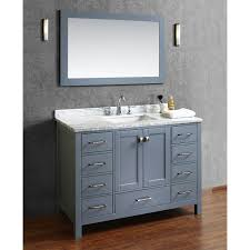 buy vincent  inch solid wood single bathroom vanity in charcoal