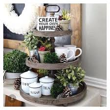 wooden three tier tray the wooden 3 tier tray a liked on featuring home kitchen dining wooden three tier tray 3