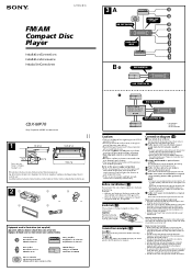 sony cdx mp70 fm am compact disc player manual sony cdx mp70 installation connection instructions