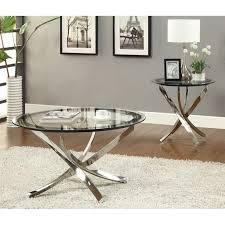 image is loading coaster metal and glass end table in chrome
