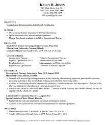 Example Of College Resume Template Adorable Occupational Therapy Resume Templates Httpresumesdesign
