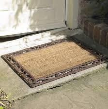 Decorating coir door mats pics : cast iron & coir rectangular door mat by dibor ...
