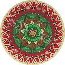 beautiful rug red rose round rugs