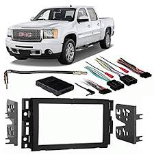 amazon com fits gmc sierra w o oe nav 2012 2013 double din harness  at 2012 Silverado Stereo Wiring Harness Available Nearby