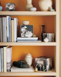 For Bookcases In Living Rooms Orange Rooms Martha Stewart