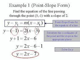 point slope formula point slope form