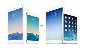ipad size comparison ipad air 2 vs ipad air 1 vs ipad mini 3 vs ipad mini 2 specs