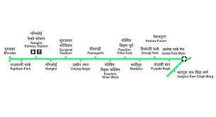 Dmrc Fare Chart Delhi Metro Green Line Hd Route Map Fare Stations