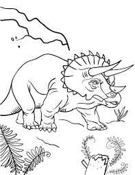 Small Picture Free Triceratops Coloring Page