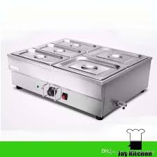 2018 commercial electric food warmer stainless steel food display warmer container bain marie counter table top electric food buffet pot warmer from