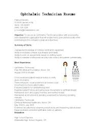 Optician Resumes Job Description For Licensed Optician Images Optometrist Assistant