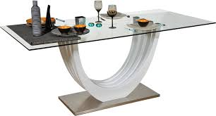 ovio glass top dining table