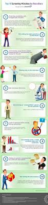 top screening mistakes made by recruiters infographic