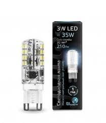 Светодиодная <b>лампа Gauss G9</b> 220V 3W(250lm) 4100 2K 49x15 ...