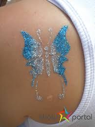 Dočasné Tetování Airbrush Třpytivé Tetování Atrakce Pohoda