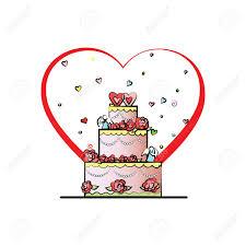Wedding Cake Vector Valentines Day Royalty Free Cliparts Vectors