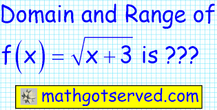how to find domain and range of a radical function 1 2 precalculus you