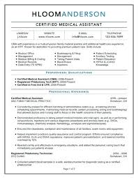 Medical Assistant Student Resume Certified Medical Assistant Resume