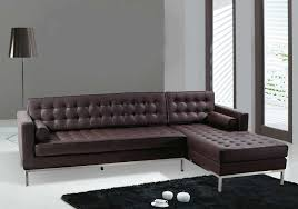 italian leather furniture manufacturers. Tufted Sofa With L Shape Has Dark Brown Tone Italian Style Leather Furniture Manufacturers S