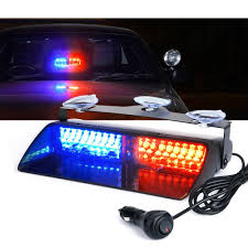 com xprite red blue 16 led high intensity led law enforcement emergency hazard warning strobe lights for interior roof dash windshield with