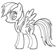 My Little Pony Rainbow Dash Coloring Pages Dapmalaysiainfo