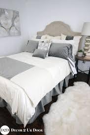 grey ivory velvet ornate apartment bedding collection