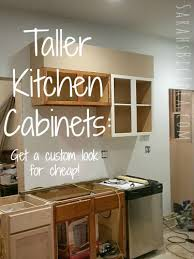 Make Your Kitchen Cabinets Look Taller Embiggening The Cabinets