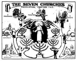 Letters To The Seven Churches Chart The Original Publications The Seven Churches