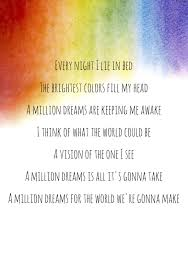 A Million Dreams The Greatest Showman Lyrics Quotes Disney And