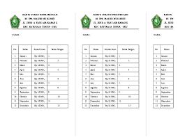 Download contoh kartu spp hijriyah & masehi. Contoh Format Iuran Bulanan Ilmusosial Id