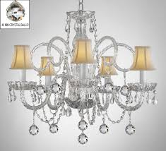 all crystal chandelier with shades to enlarge