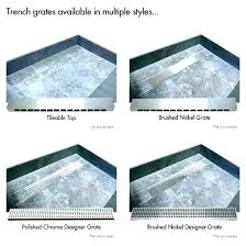 french drain home depot trench drain home depot shower garage french