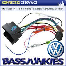 vw transporter t5 car van radio stereo iso wiring harness amp image is loading vw transporter t5 car van radio stereo iso